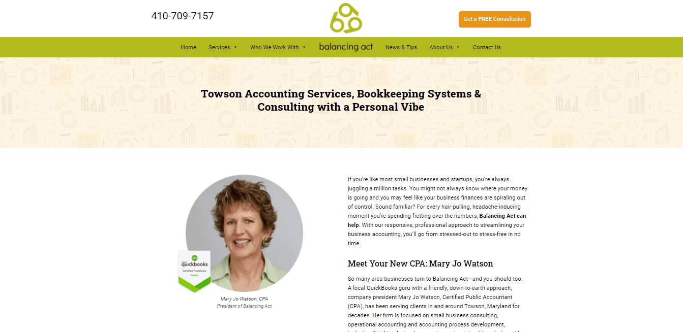 Best Accountant Website for Balancing Act