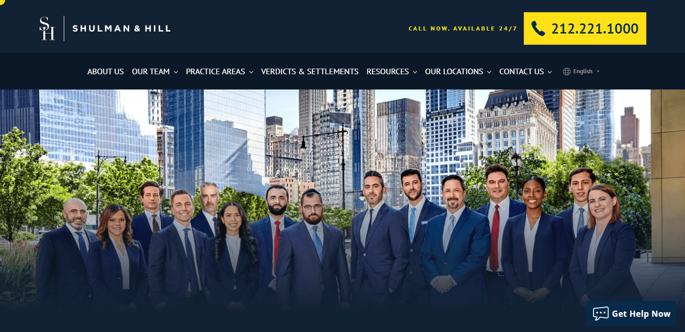 Best Law Firm Website for Shulman & Hill