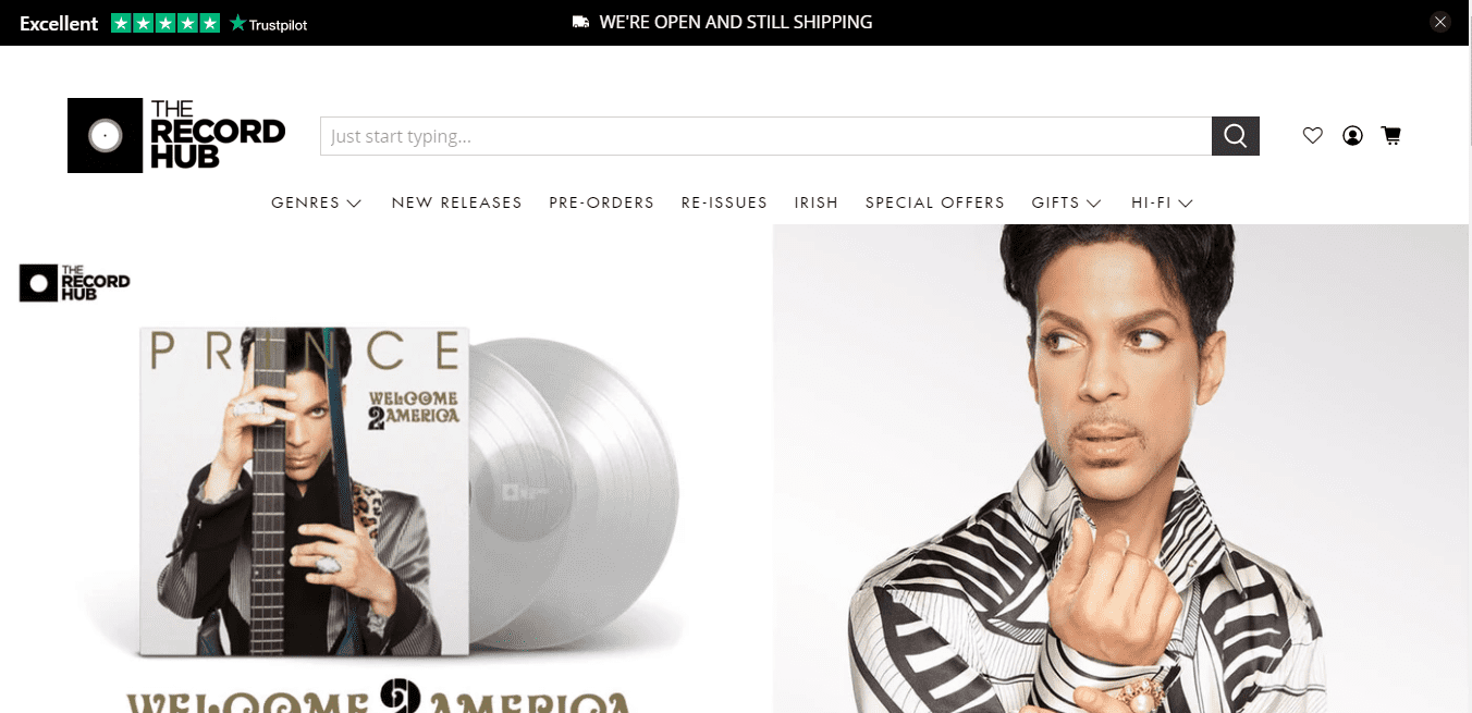 Best Ecommerce Website for The Record Hub