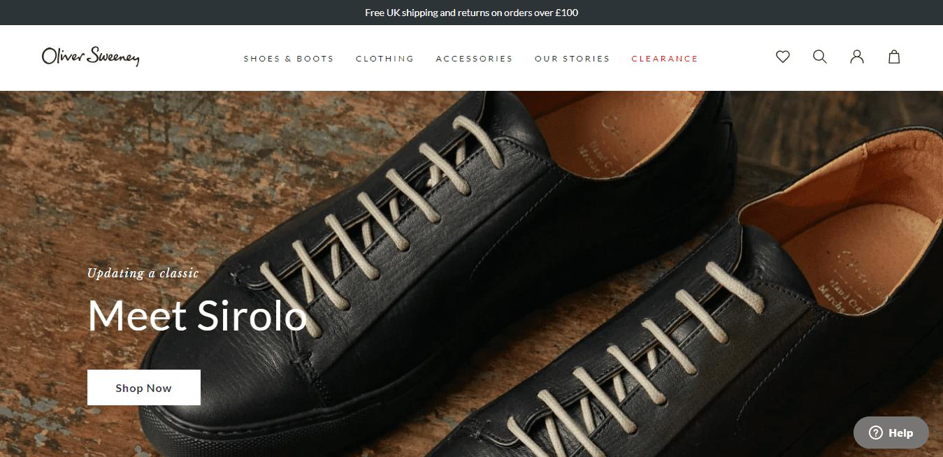 Best Ecommerce Website for Oliver Sweeney