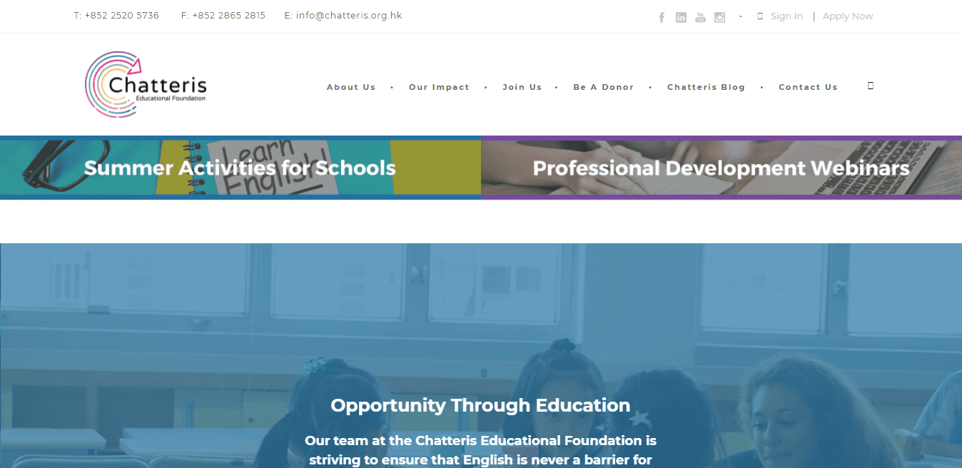 Best Education Website for Chatteris Educational Foundation