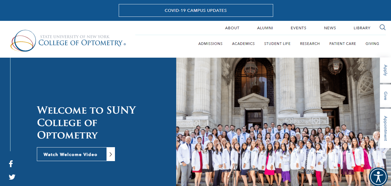 Best Education Website for SUNY College of Optometry