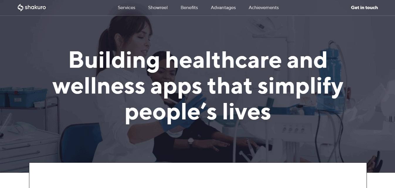 Best Health Care Website for Shakuro Inc