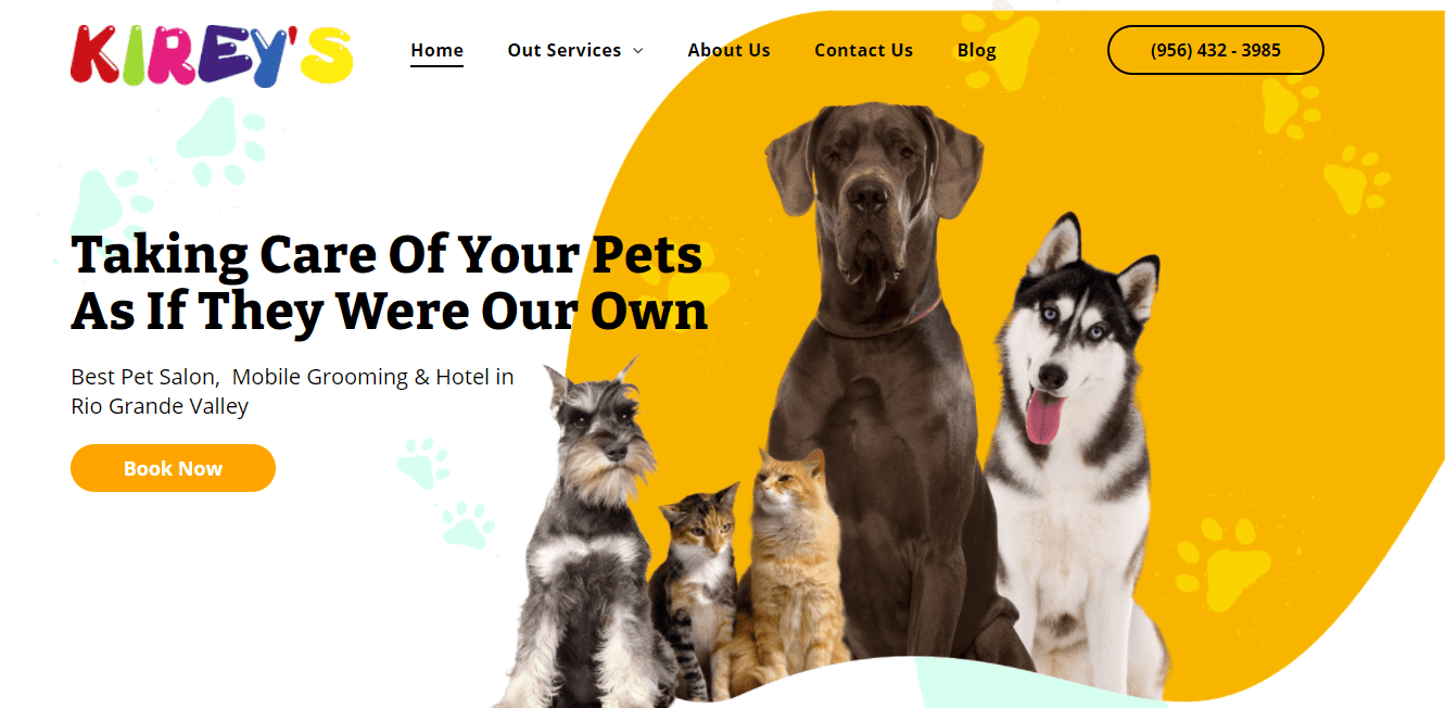 Best Home Service Website for Kirey's Pet Salon LLC