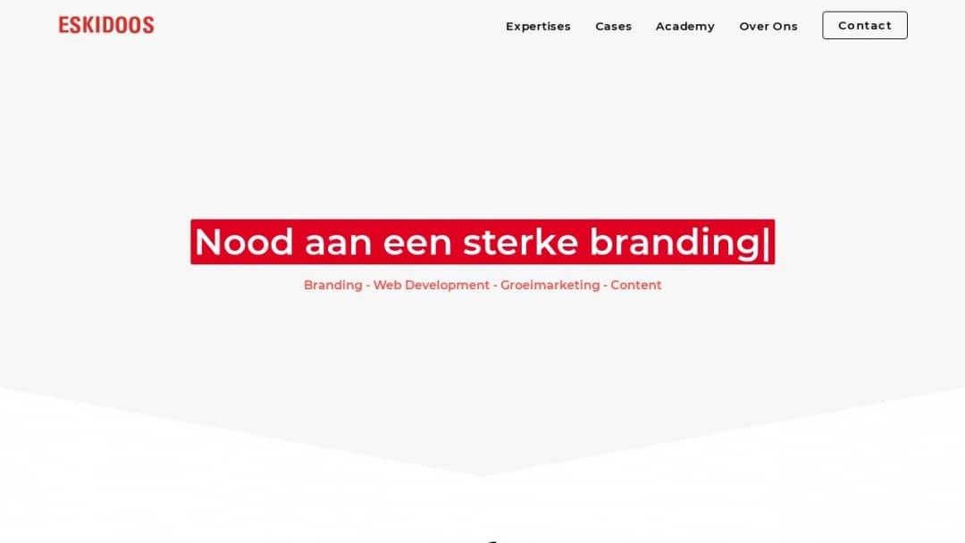 Screenshot of ESKIDOOS's Website