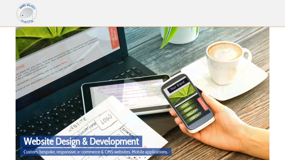 Screenshot of Web Studio Marita's Website