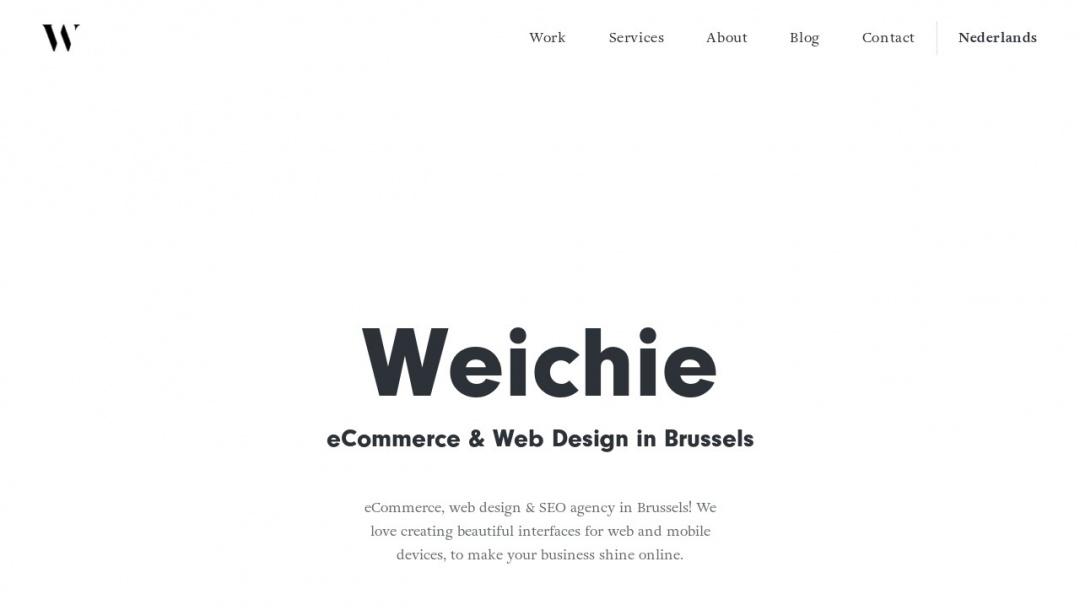 Screenshot of Weichie.com's Website
