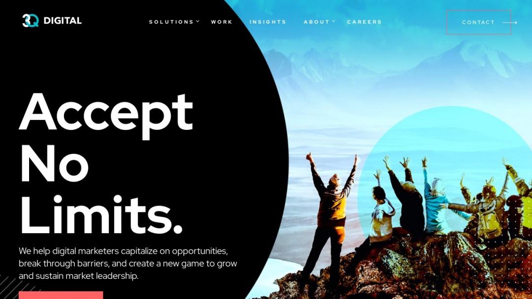 Screenshot of 3Q Digital's Website