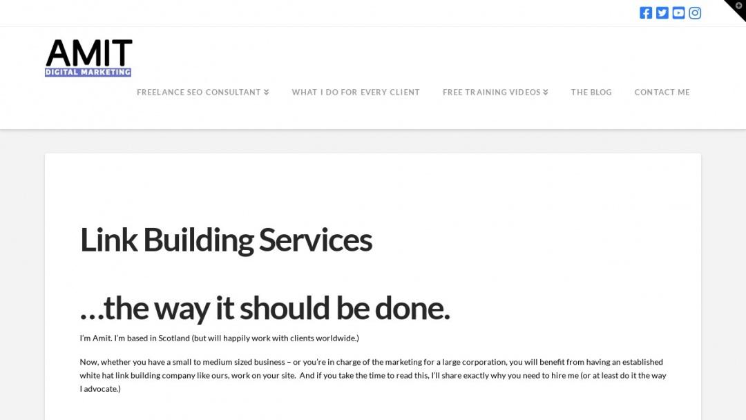 Screenshot of Amit Digital Marketing's Website