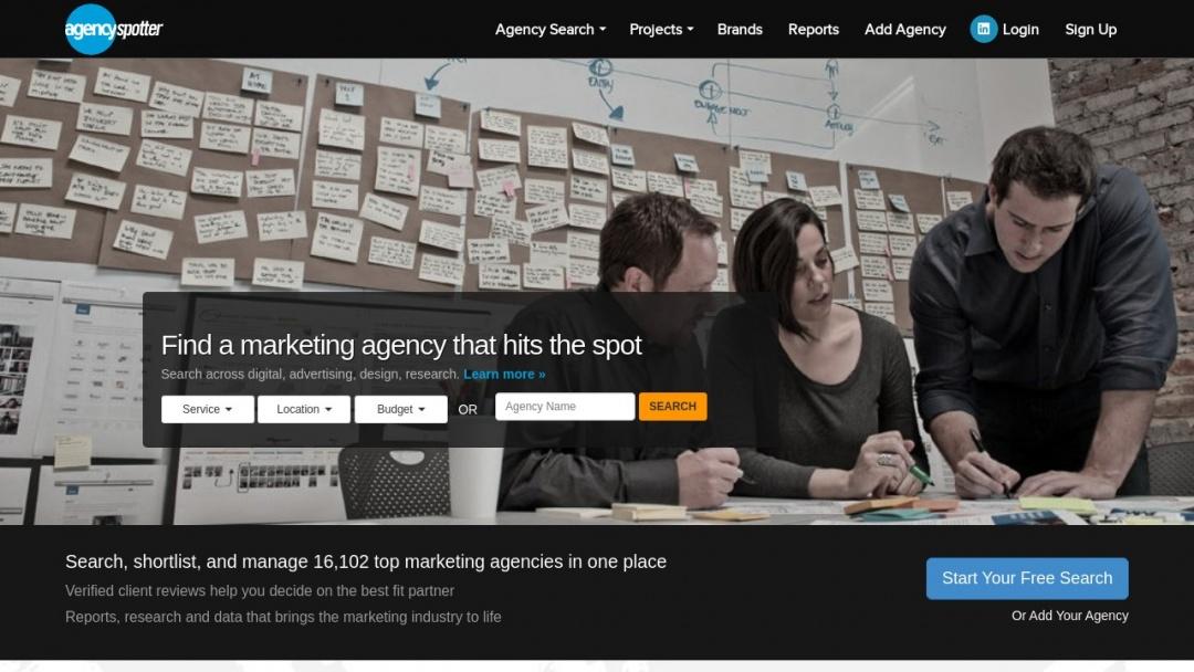 Screenshot of Ayima Search Marketing's Website