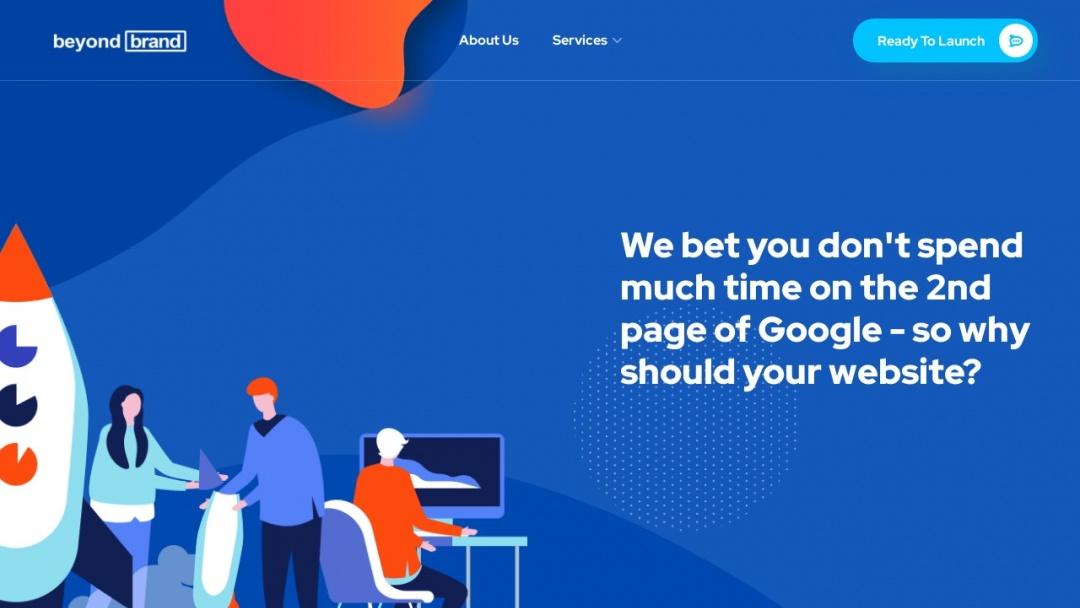 Screenshot of beyondbrand.io's Website