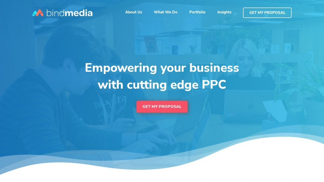 Screenshot of Bind Media. Cutting-Edge Ppc, Landing Pages & Conversion Rate Optimisation's Website