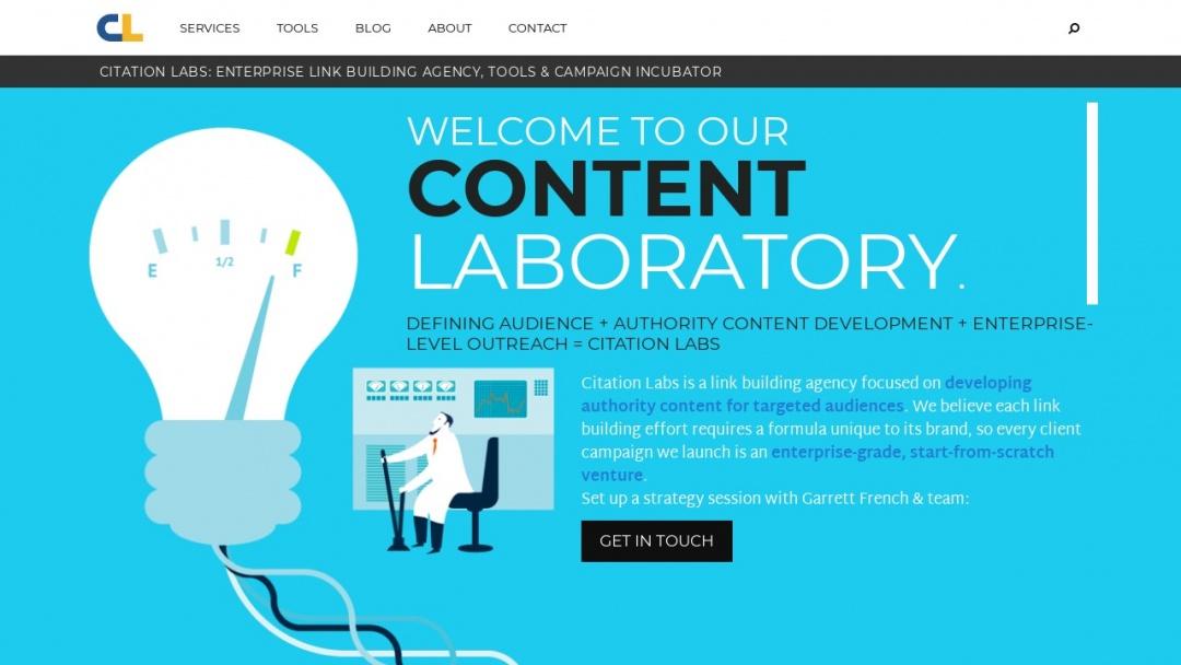 Screenshot of Citation Labs's Website