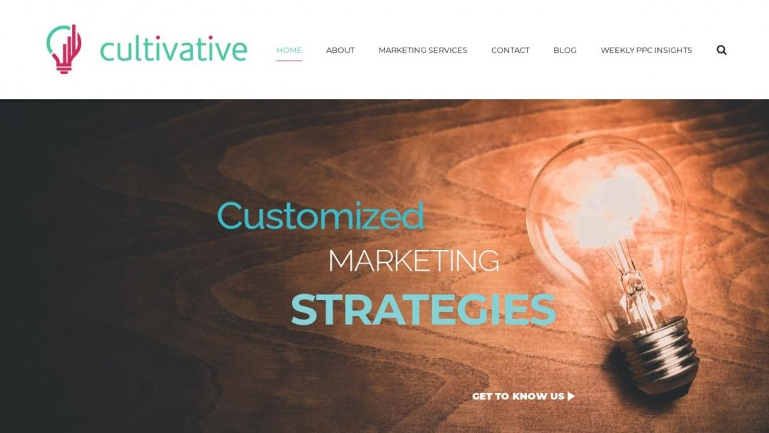 Screenshot of Cultivative's Website
