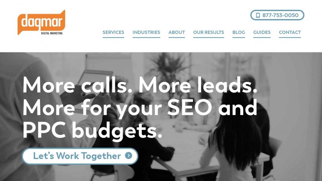 Screenshot of Dagmar Marketing's Website