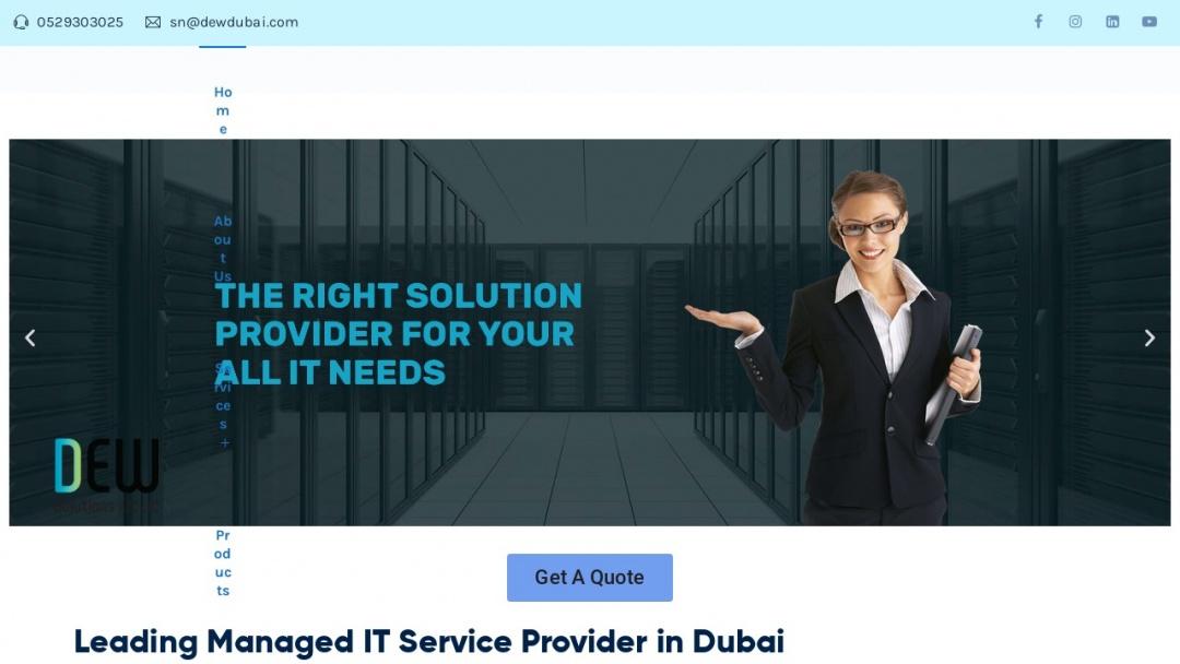 Screenshot of Dewdubai's Website