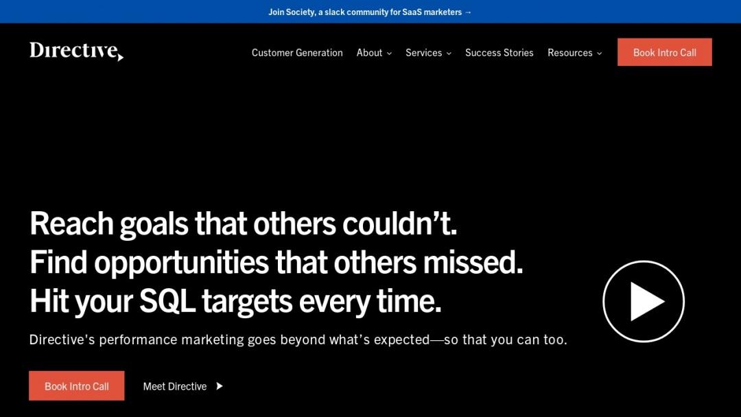 Screenshot of Directive Consulting's Website