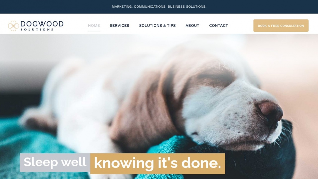 Screenshot of Dogwood's Website