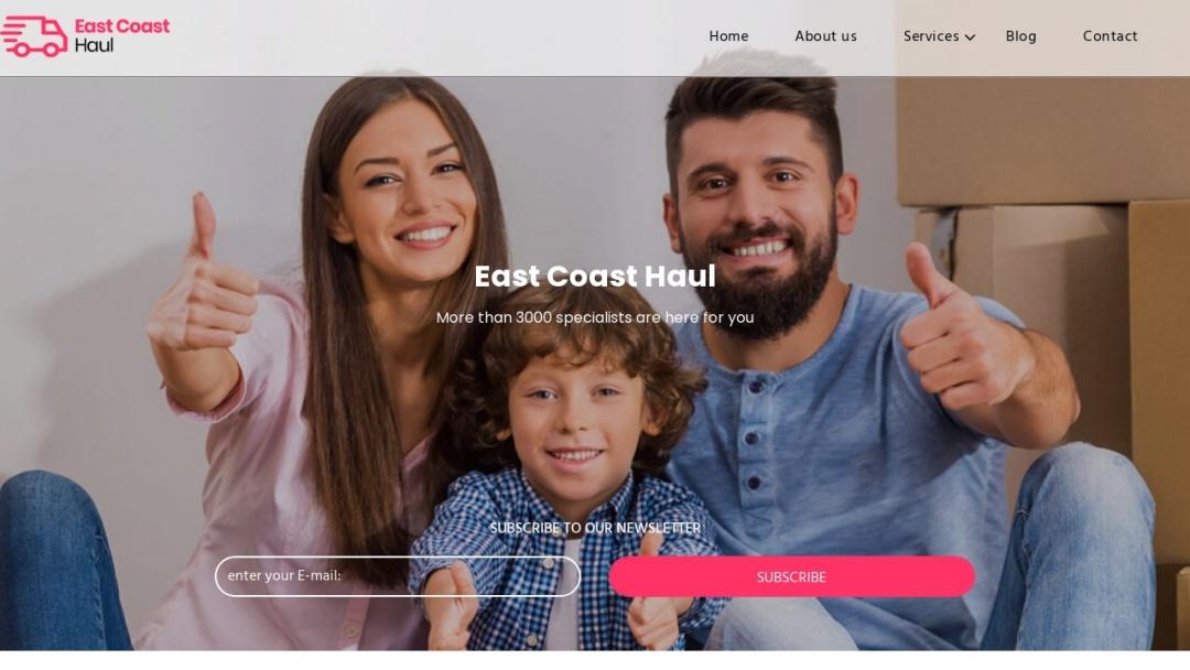 Screenshot of eastcoasthaul.com's Website
