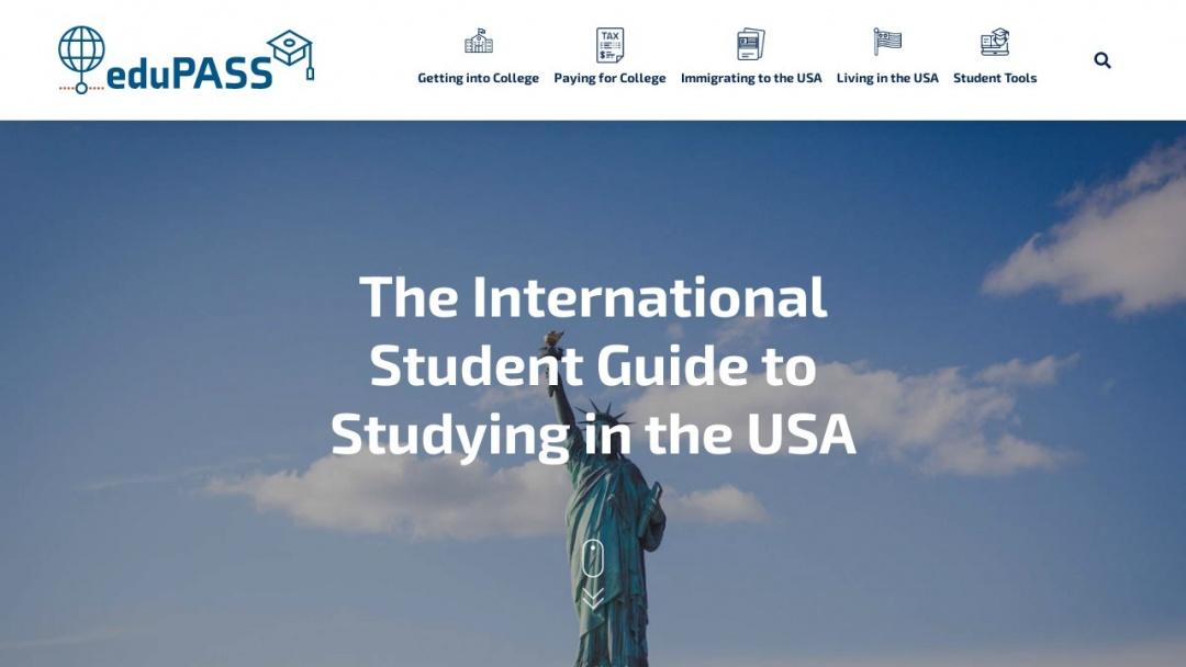 Screenshot of eduPASS's Website