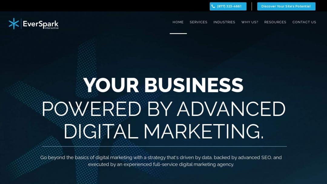 Screenshot of Erinever's Website