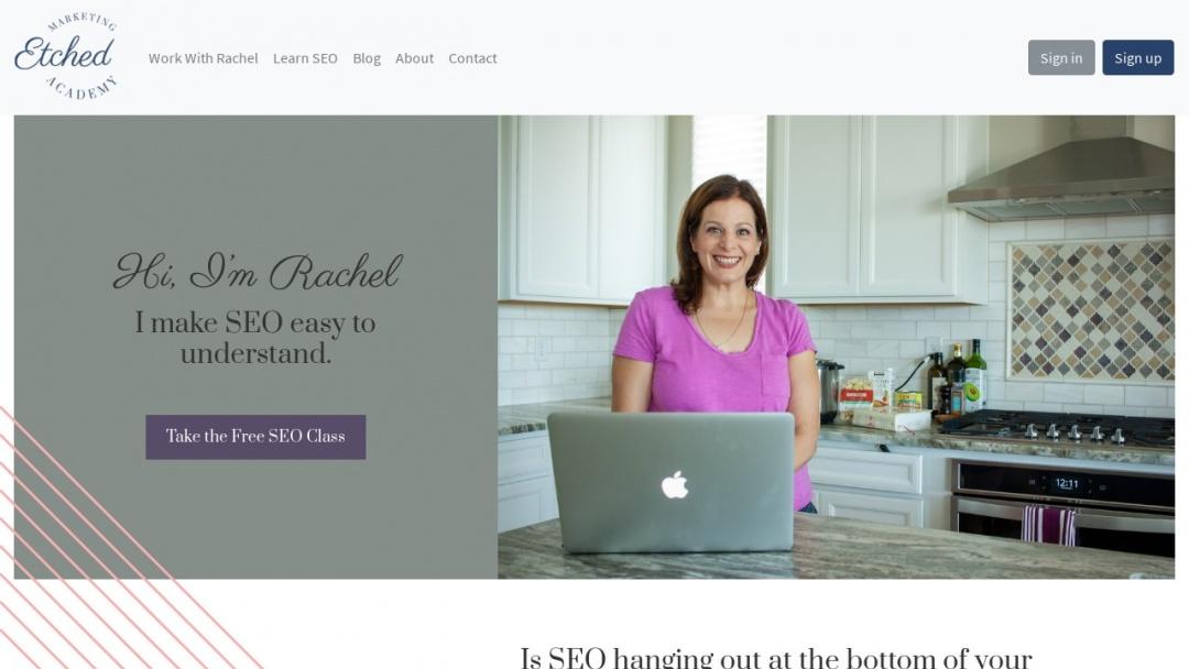 Screenshot of Etched Marketing's Website