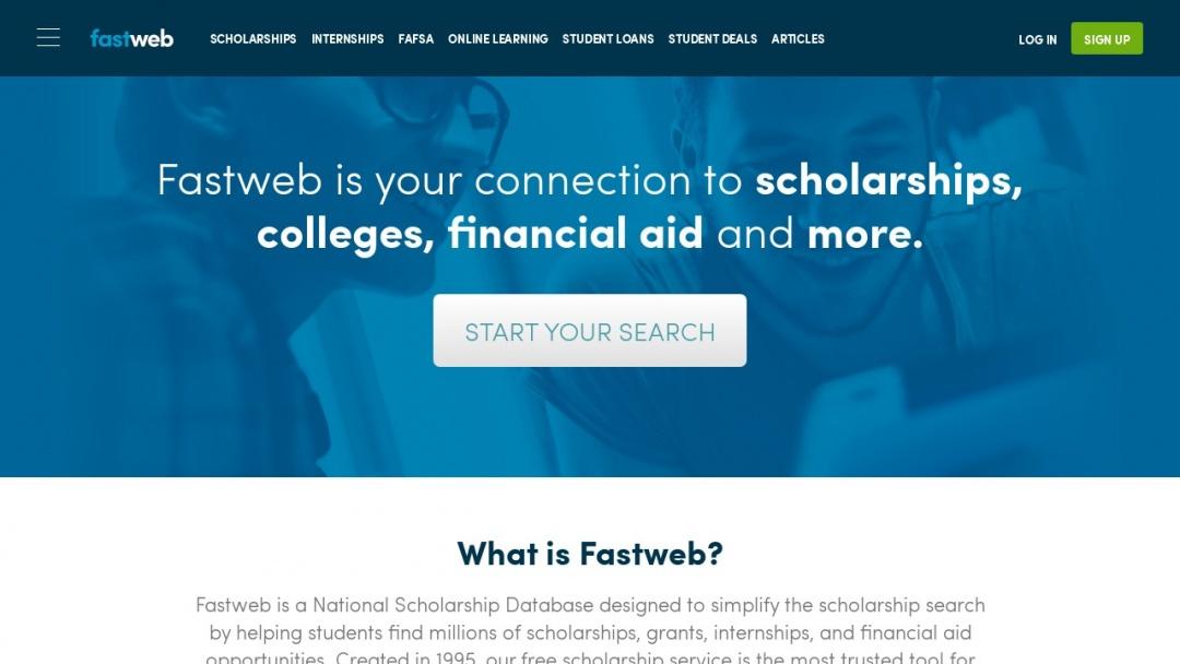 Screenshot of FastWeb's Website