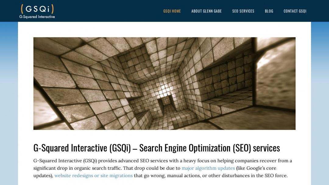 Screenshot of G-Squared Interactive LLC's Website