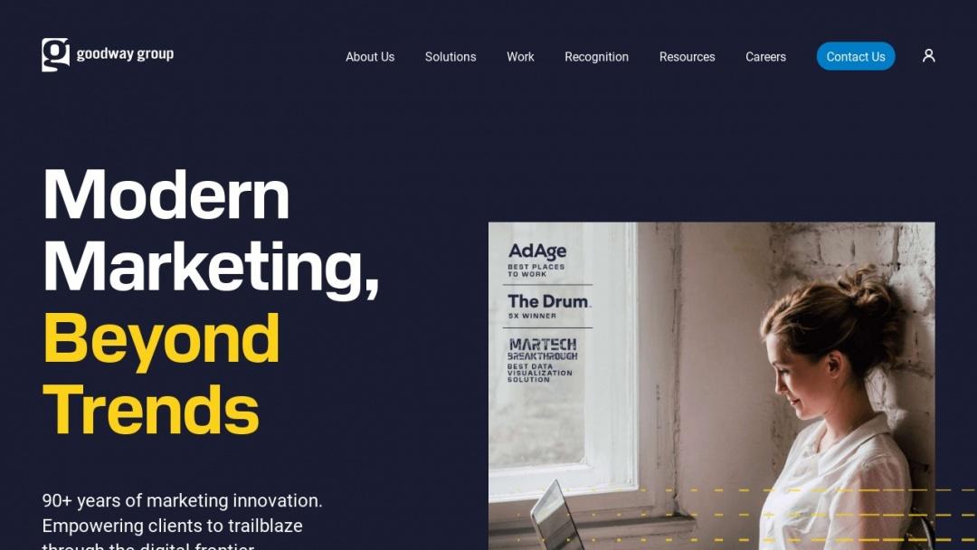 Screenshot of Goodway Group's Website