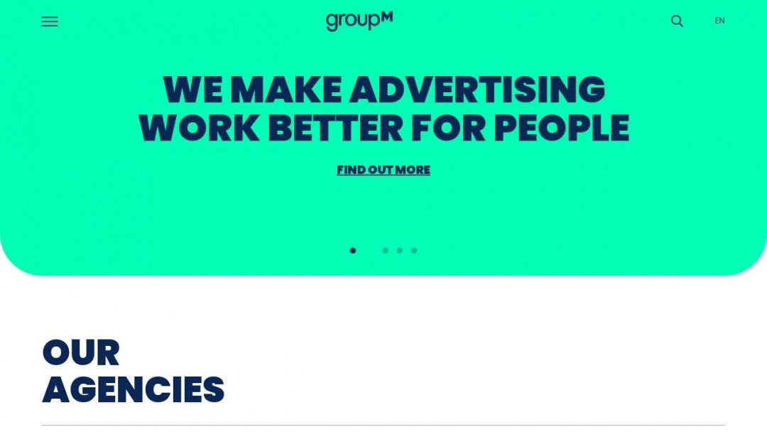 Screenshot of GroupM's Website