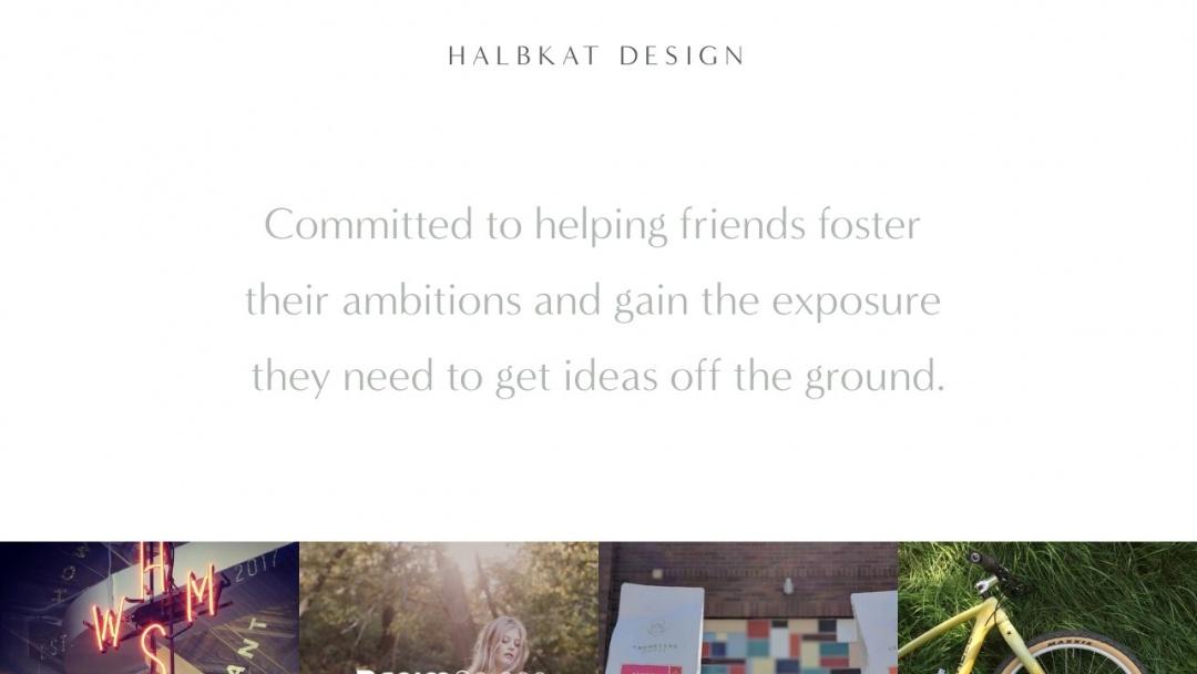 Screenshot of Halbkat Design's Website