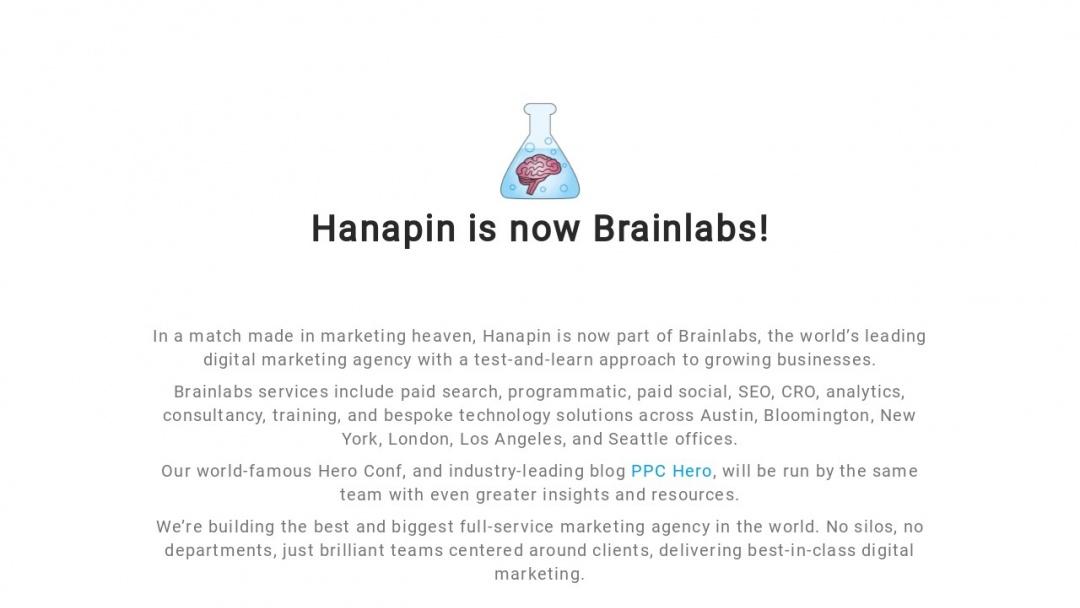 Screenshot of Hanapin Marketing's Website