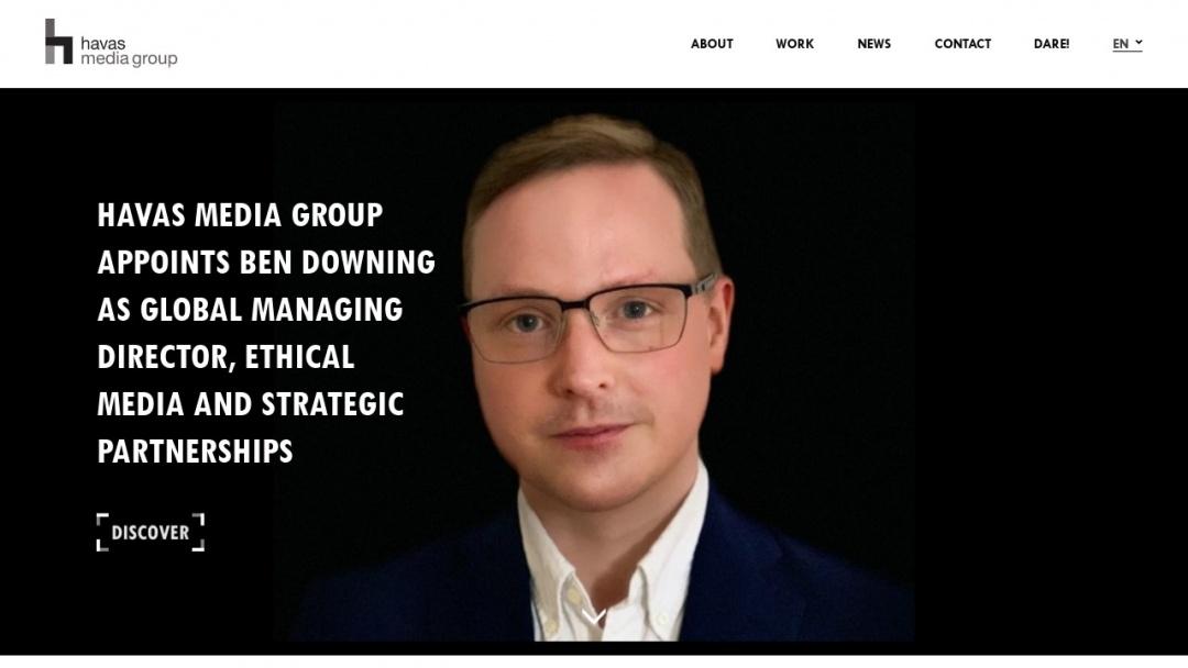 Screenshot of Havas Media's Website