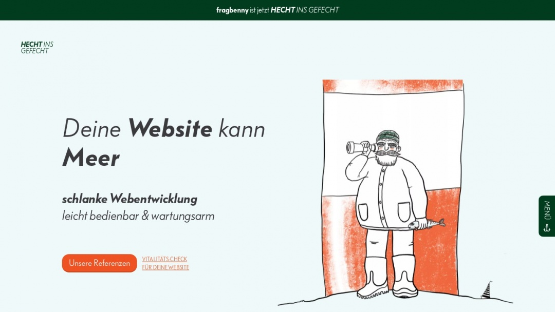 Screenshot of Hecht ins Gefecht's Website