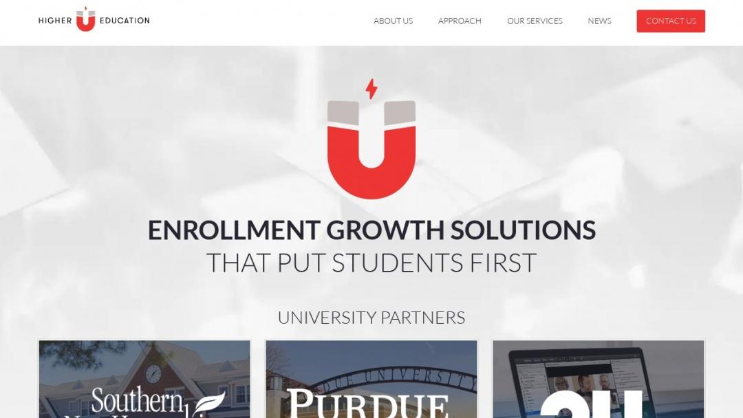 Screenshot of HigherEducation.com's Website