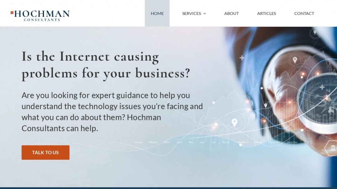 Screenshot of Hochman Consultants's Website