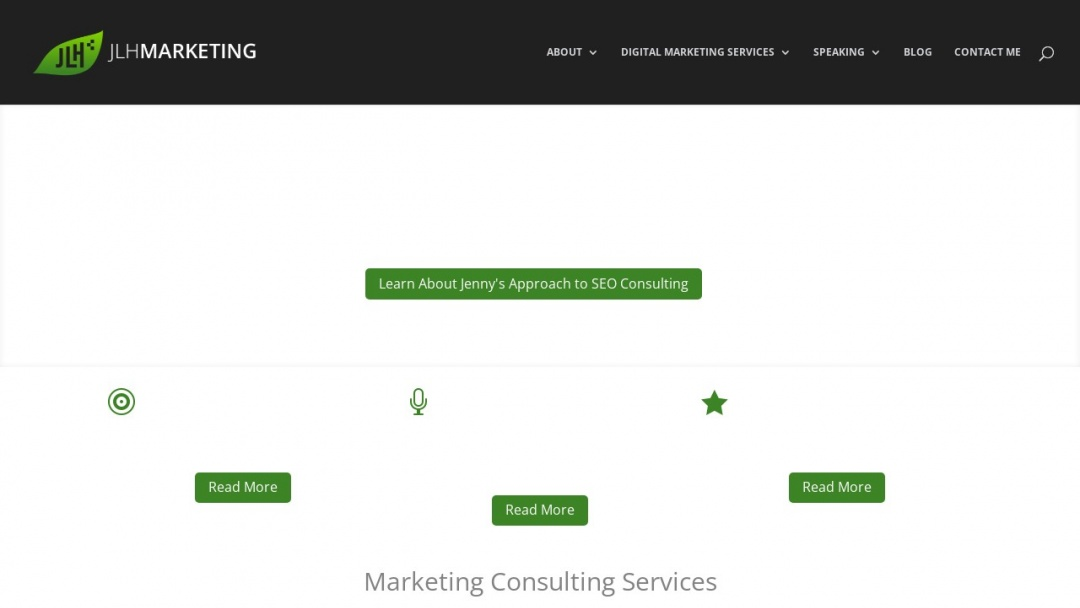Screenshot of JLH Marketing's Website