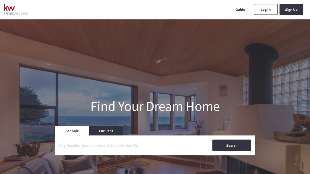 Screenshot of Keller Williams Realty, Inc's Website