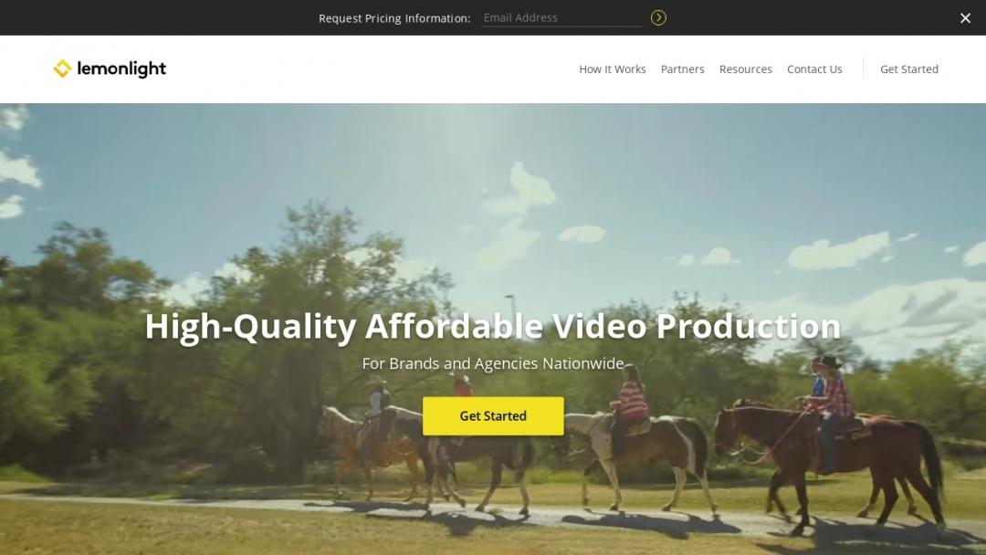 Screenshot of Lemonlight Media's Website