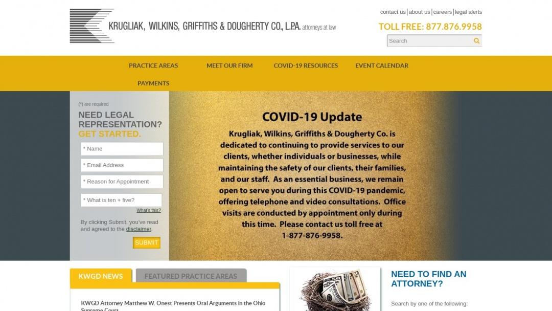 Screenshot of Marcus Focuses's Website