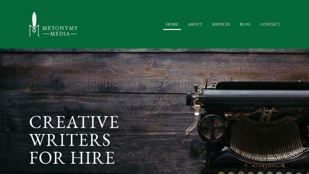 Screenshot of Metonymy Media's Website