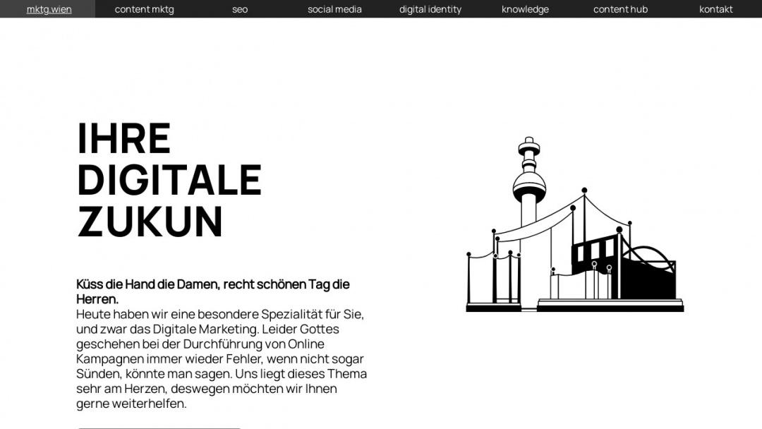 Screenshot of mktg.wien's Website