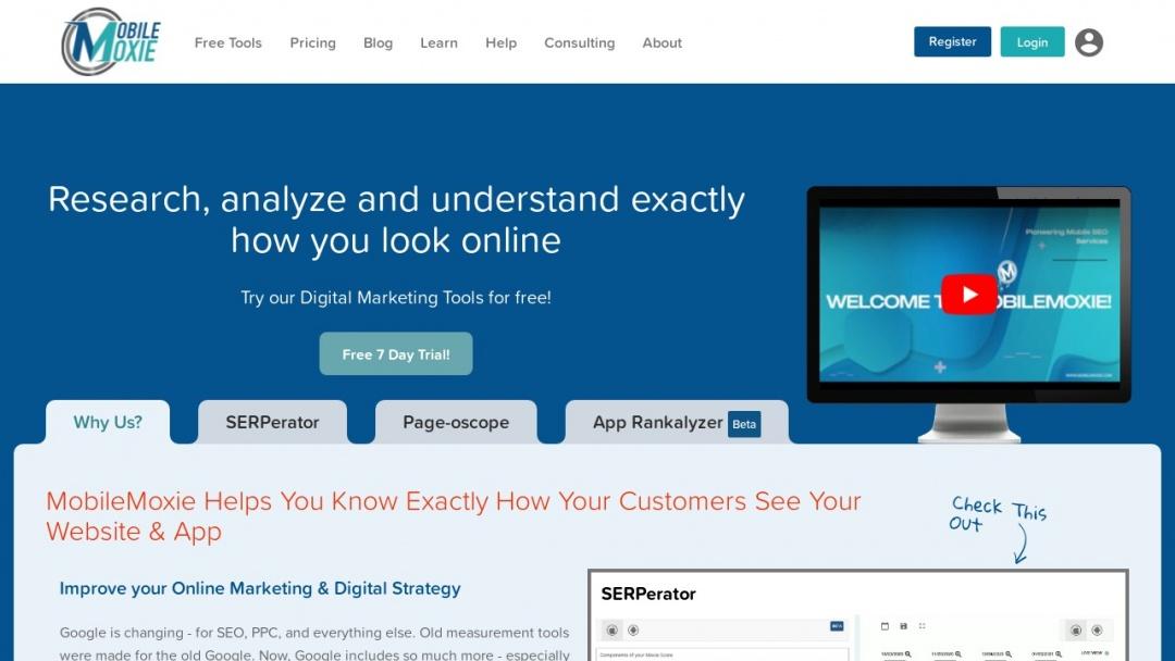 Screenshot of MobileMoxie's Website