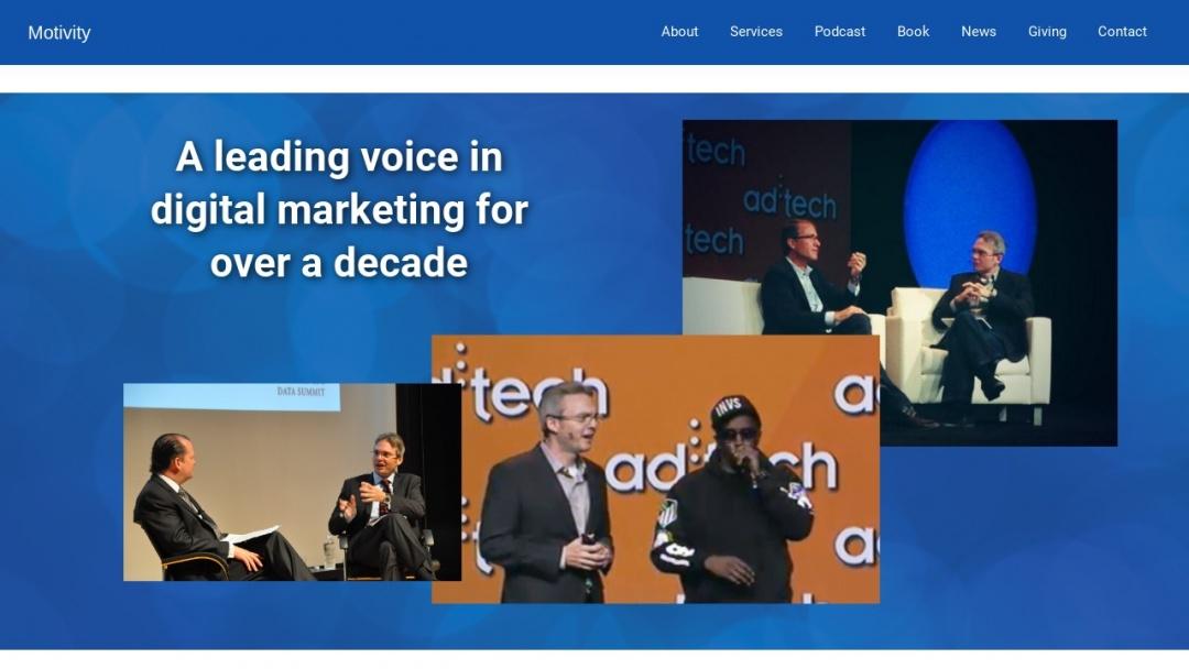 Screenshot of Motivity Marketing's Website