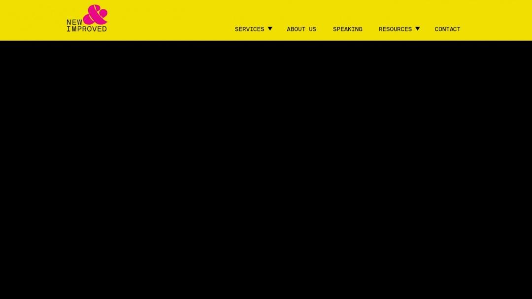 Screenshot of New & Improved Agency's Website