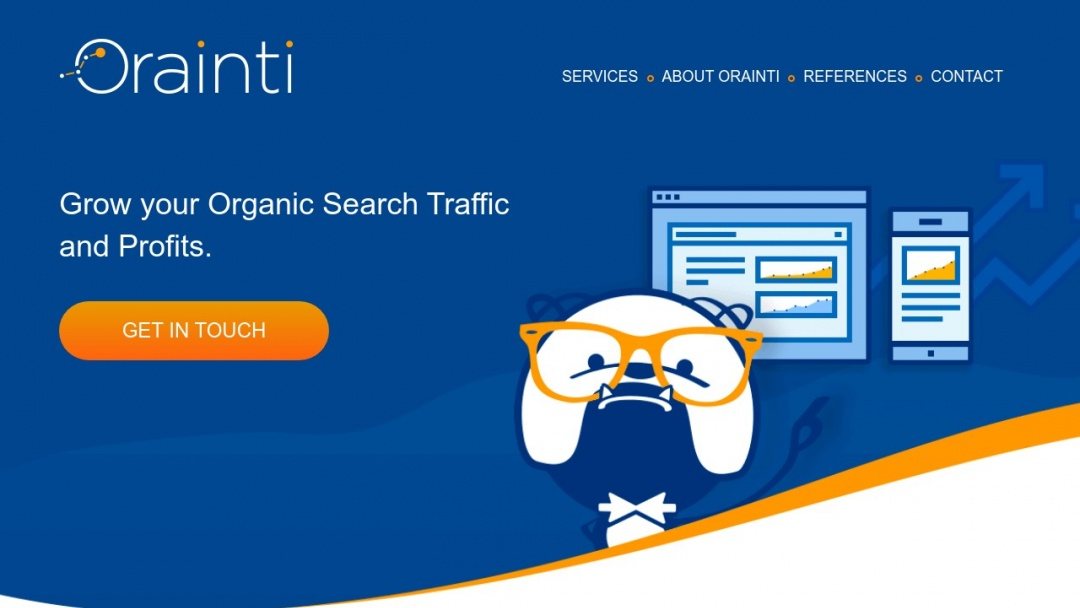 Screenshot of Orainti's Website