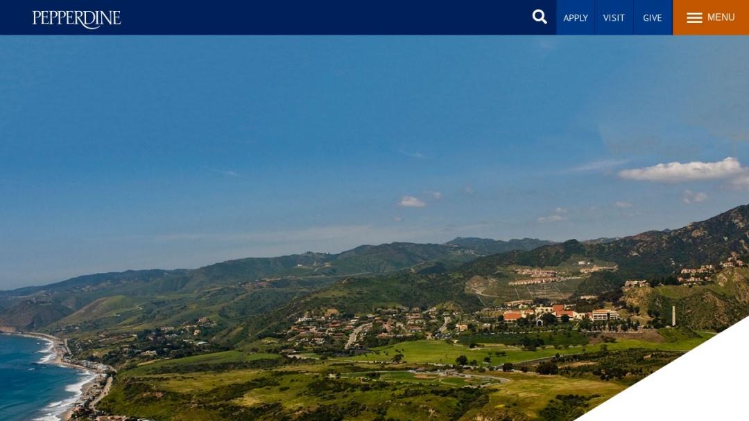 Screenshot of Pepperdine University's Website