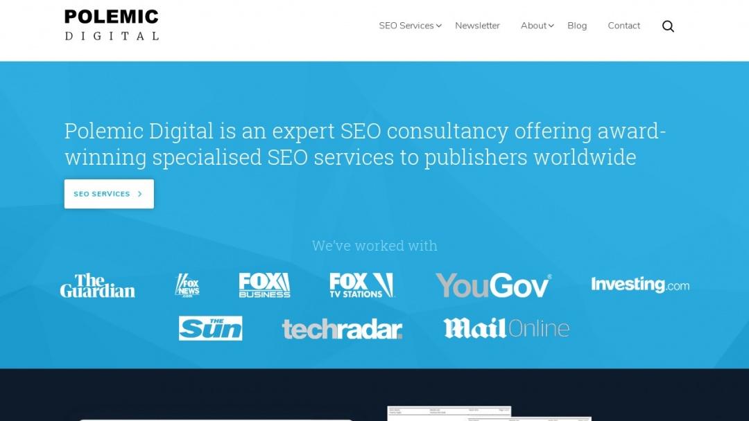 Screenshot of Polemic Digital's Website