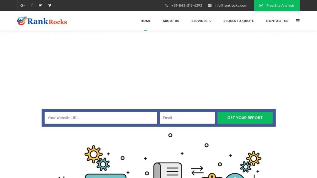 Screenshot of Rankrocks's Website