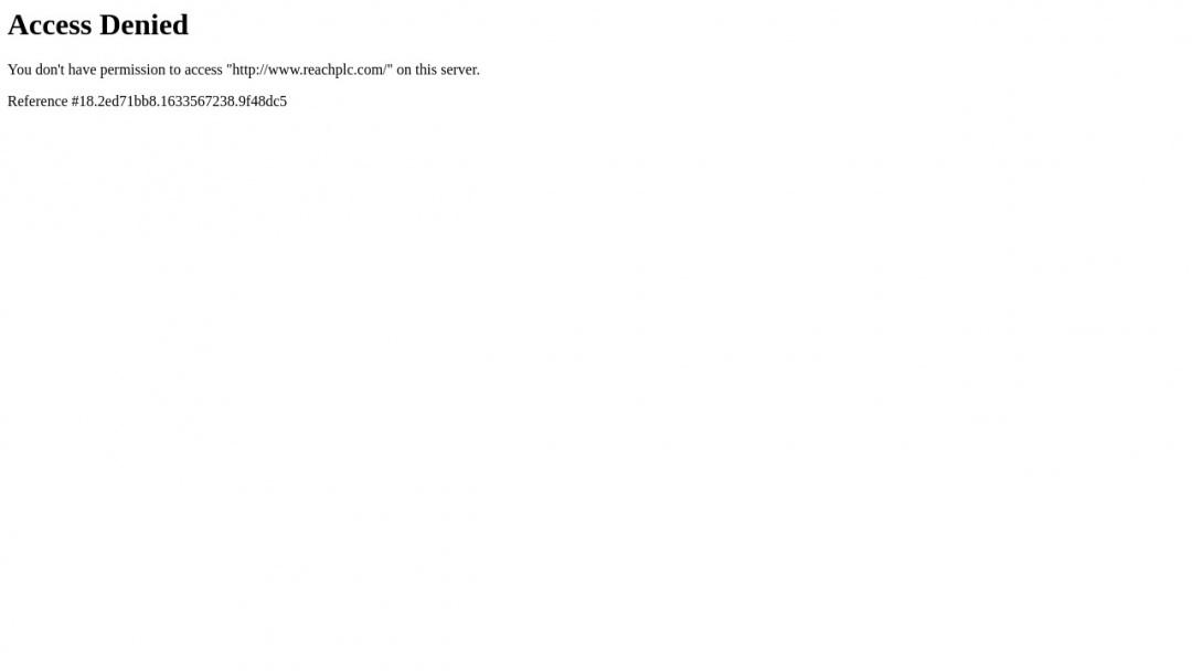 Screenshot of Reach Plc.'s Website